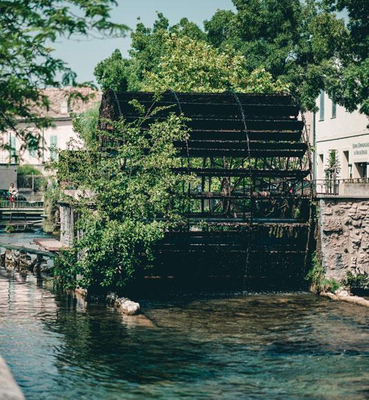Waterwheel in L'Isle-sur-Sorgue