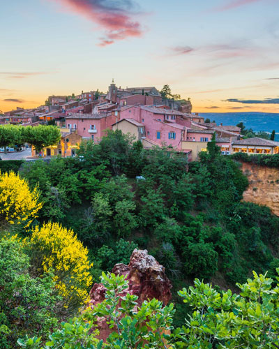 Hilltop village Roussillon in Luberon