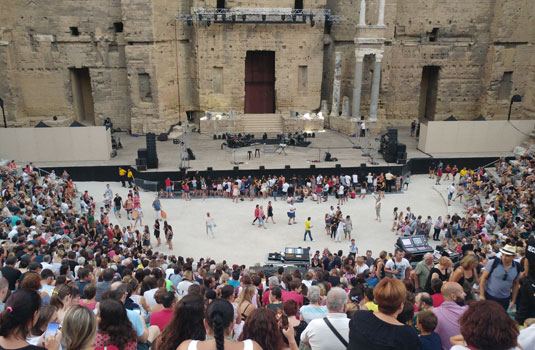 Chorégies d'Orange taking place in the ancient theatre
