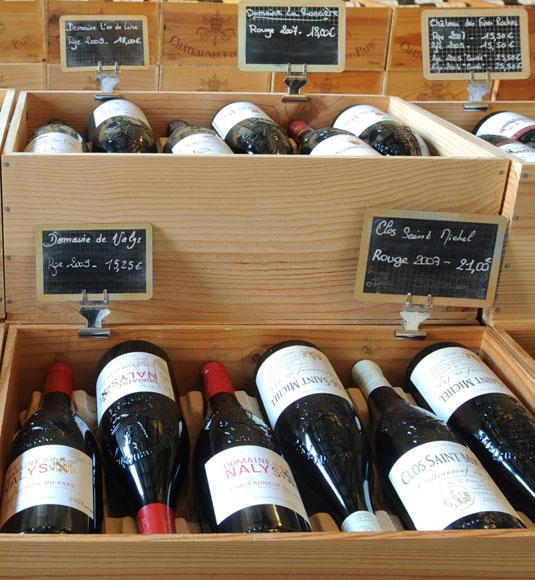PDO Côtes du Rhône wine box