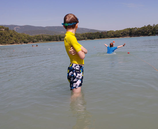 An afternoon swim