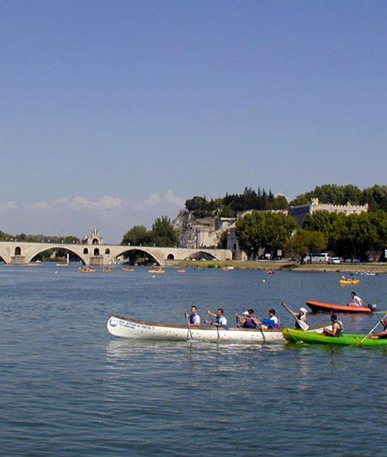 Canoe in the Rhone rvier