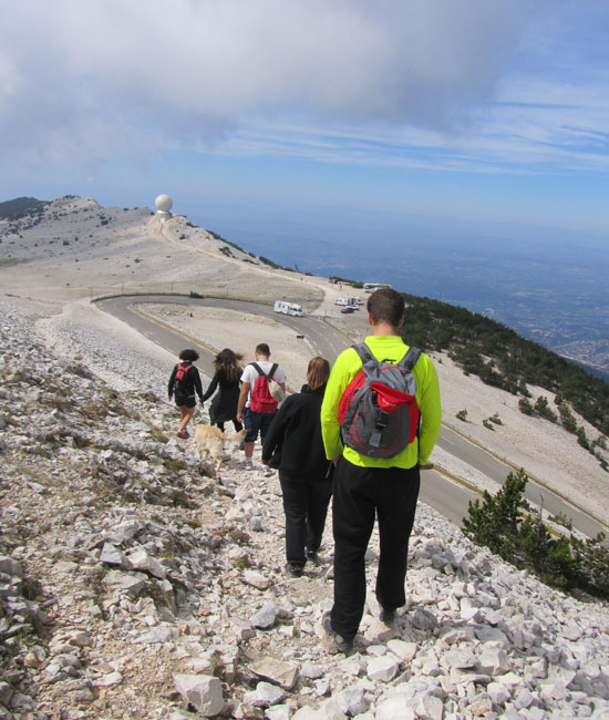 Hiking in the Mont Ventoux